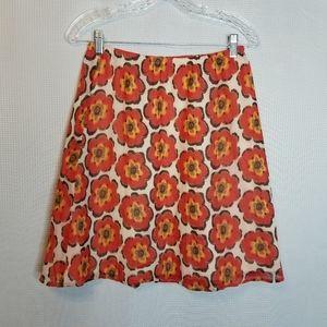 Isaac Mizrahi Live Floral lined skirt.
